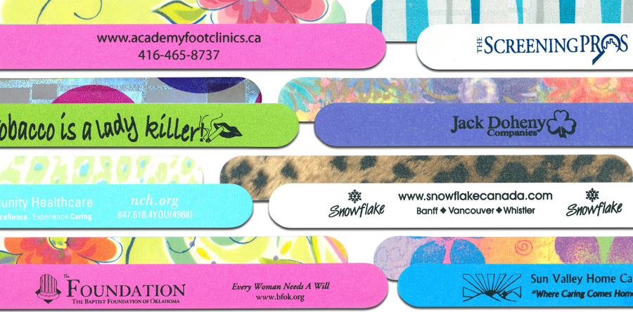 promotional nail files, supporting causes, campaigns, promotional products, promoting your product, nail files