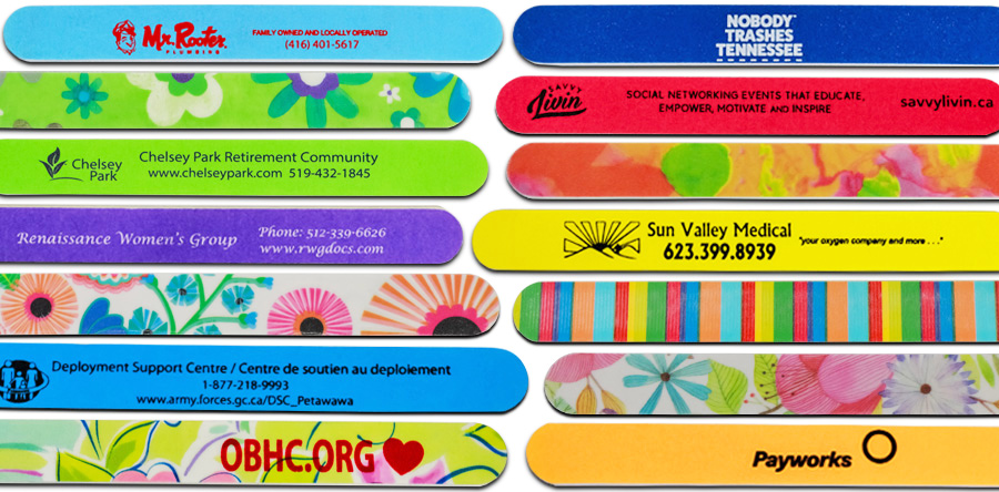 promotional abrasives, promotional nail files, promotional products, promoting your cause, abrasive products