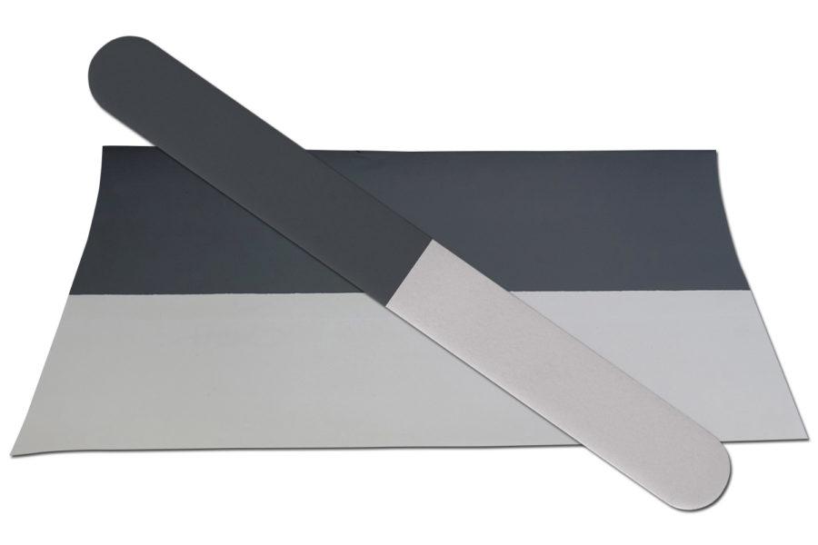 Solid Grey/White Emery Board