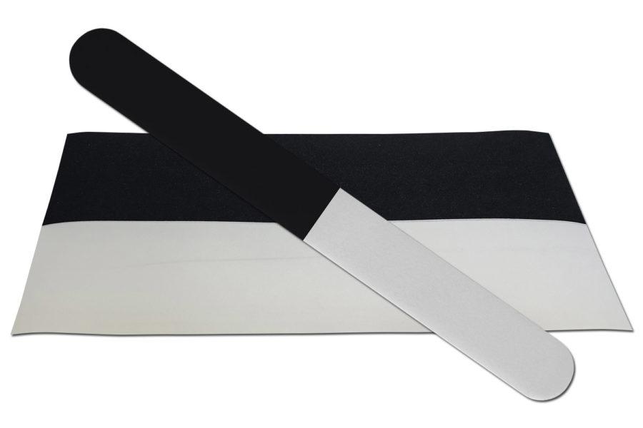 Solid Black/White Emery Board
