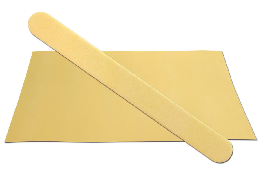 Solid Butter Yellow Emery Board