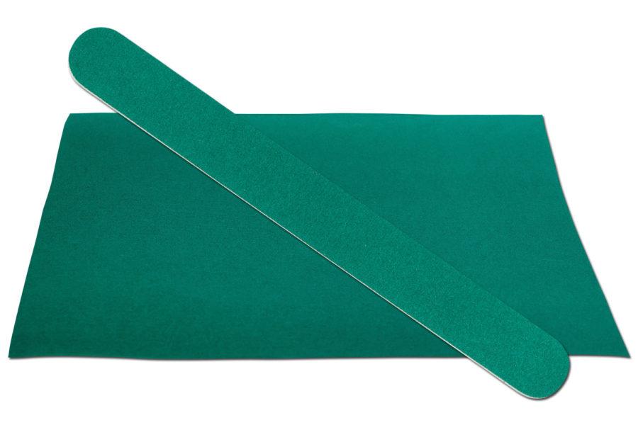 Solid Dark Green Emery Board