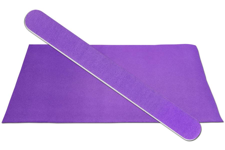 Solid Dark Purple Emery Board