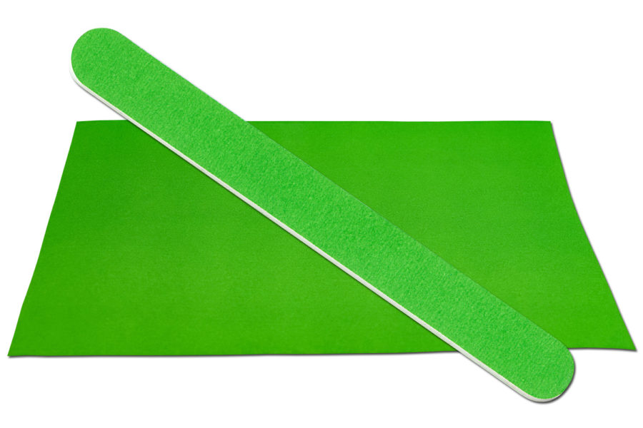 Solid Grass Green Emery Board