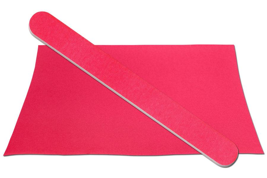 Solid Lipstick Pink Emery Board