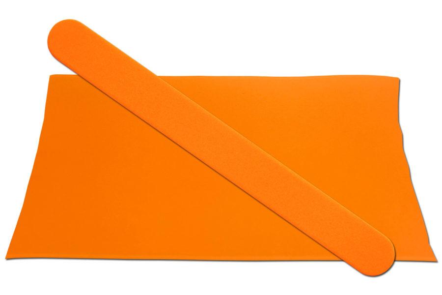 Solid Neon Orange Emery Board