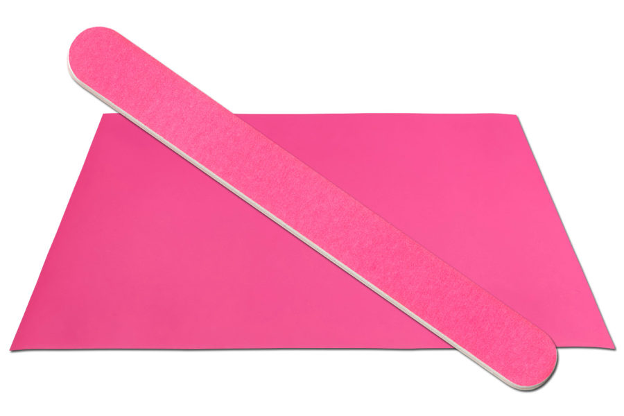 Solid Neon Pink Emery Board