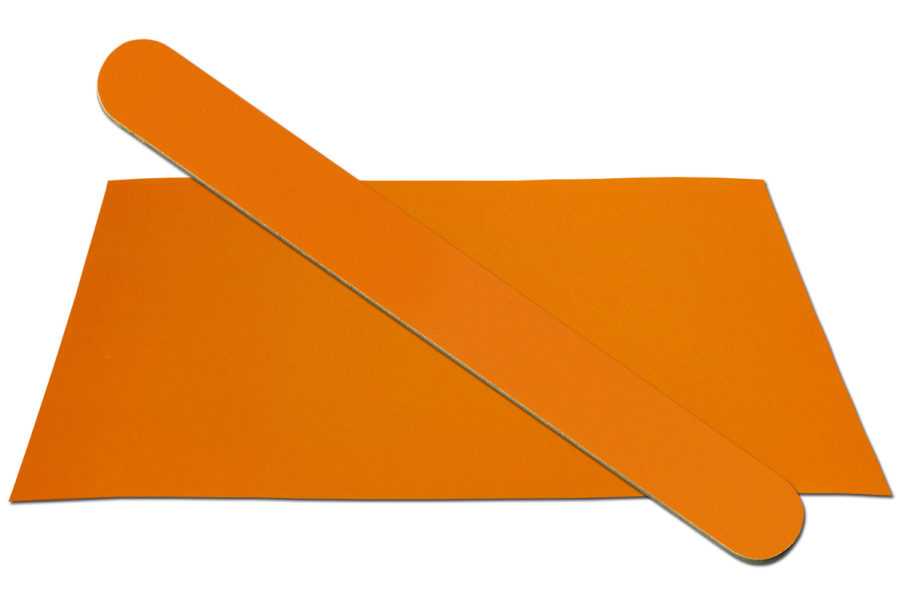 Solid Pumpkin Orange Emery Board