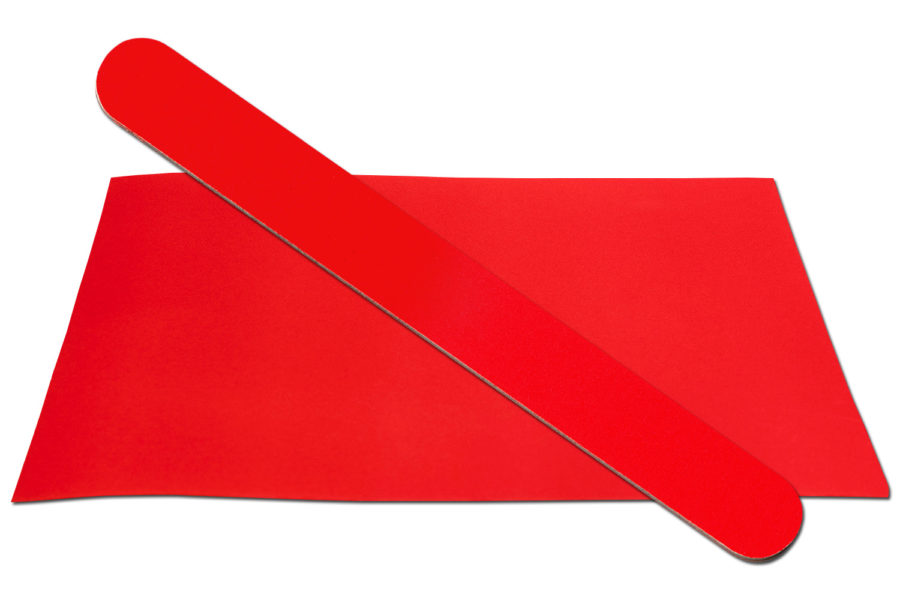 Solid Red Emery Board