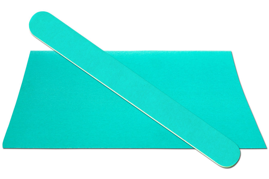 Solid Teal Emery Board